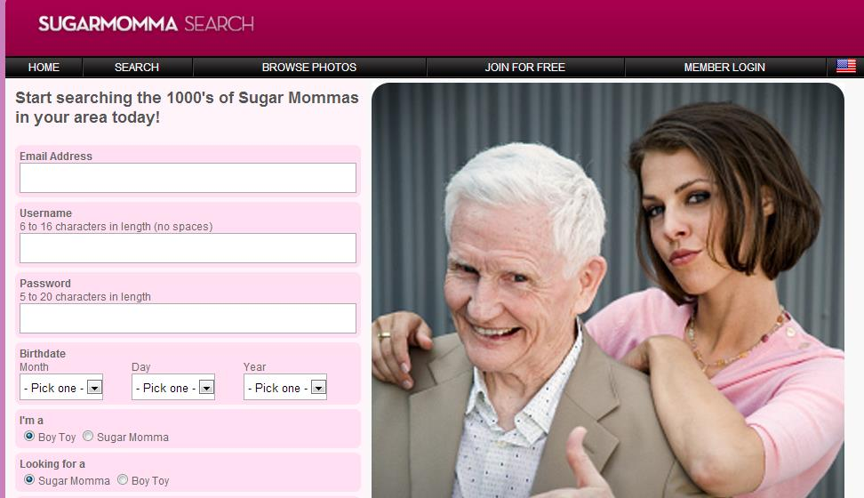 Free sugar momma dating sites